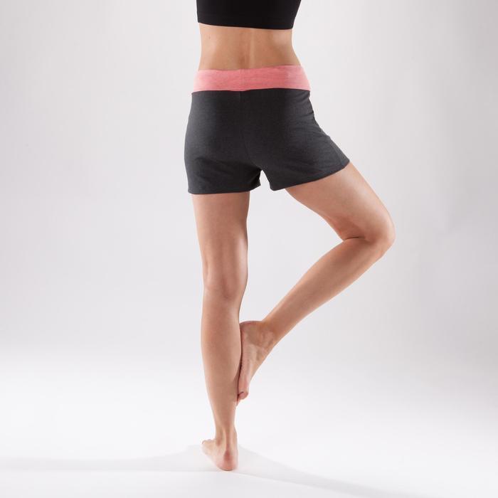 Women's Organic Cotton Gentle Yoga Shorts - Grey/Coral