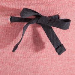 女款舒緩瑜珈有機棉短褲 - 灰色/珊瑚紅