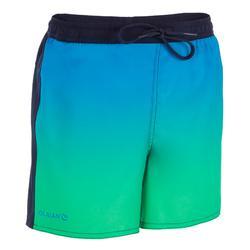Surf Boardshort corto 500 Kid Sunset verde