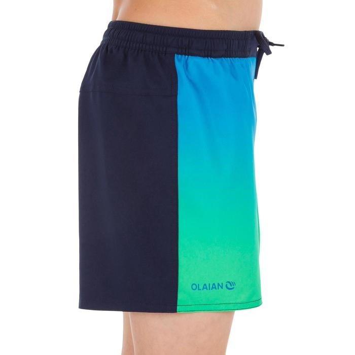 Surf Boardshort corto 500 Kid Sunset verde