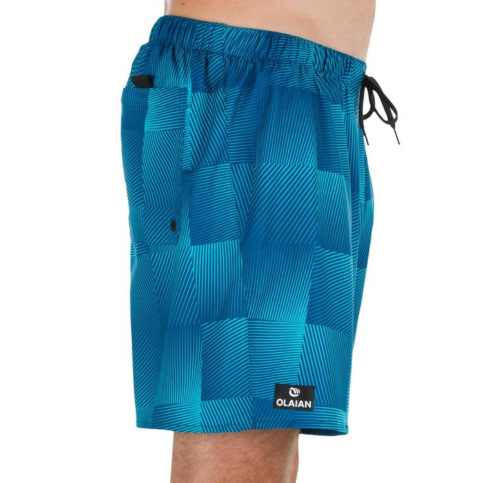 Surf boardshort court 100 Square Blue - 1298361