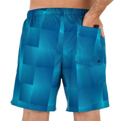 بورد شورت أزرق مربع لركوب الأمواج لفترات قصيرة 100