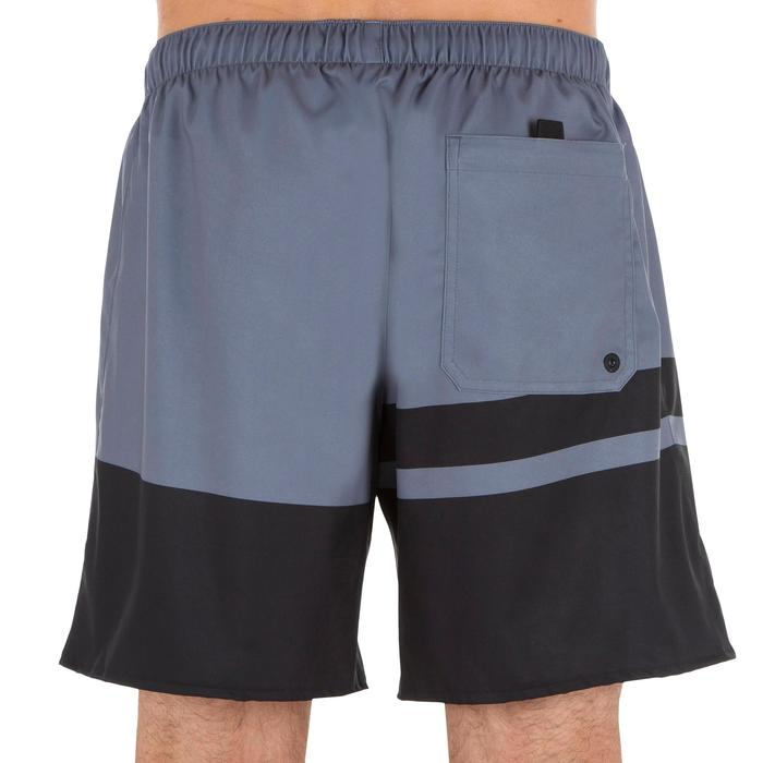Korte bodyboardshort 100 Stripes Grey
