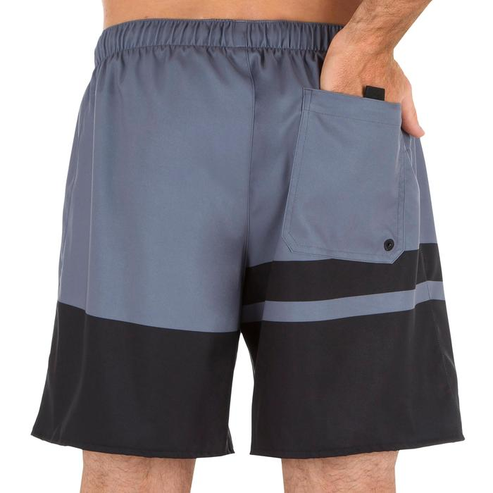 Surf boardshort court 100 Stripes Grey