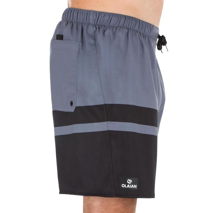 Surf boardshort corto 100 Stripes gris