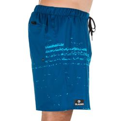 Korte boardshort 100 Waves blauw
