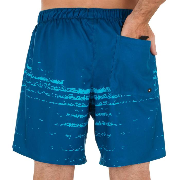 Korte bodyboardshort 100 Waves Blue