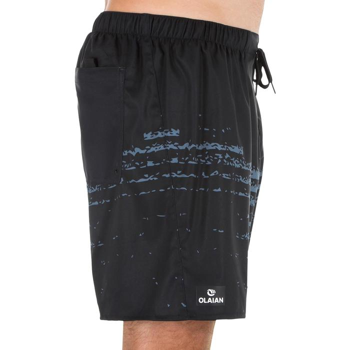 Kurze Boardshorts Surfen 100 Waves schwarz