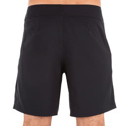 500 Short Surfing Boardshorts Plain Full Black