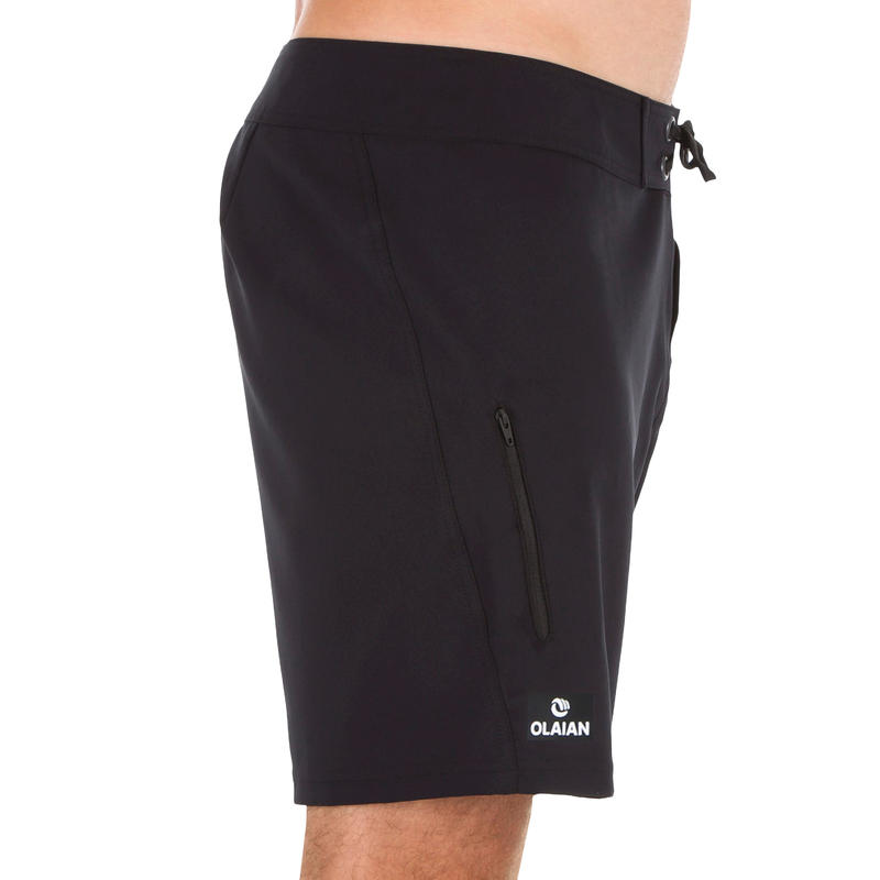 Surfing Short Boardshorts 500 - Plain Full Black