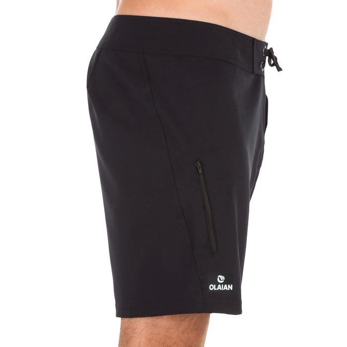 Surf boardshort kort 500 effen Full Black