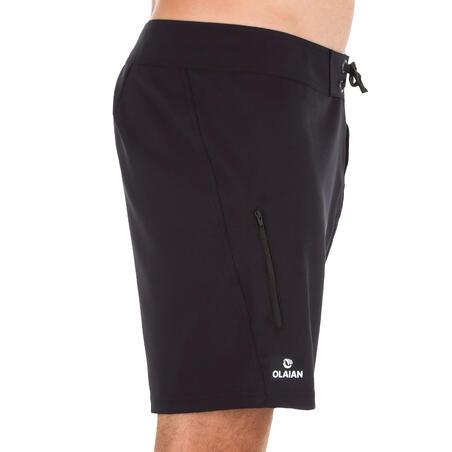 Surfing Short Boardshorts 500 - Plain Full Black