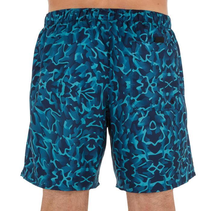 Kurze Boardshorts Surfen 100 Camo blau