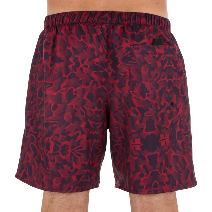 Korte surf- en boardshort 100 Camo Red