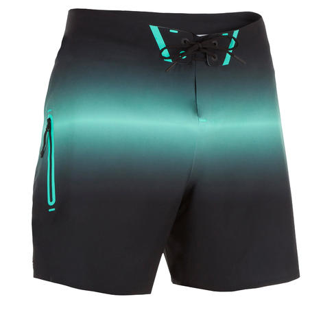 Surf Boardshort 900 Deep Black, Light Green
