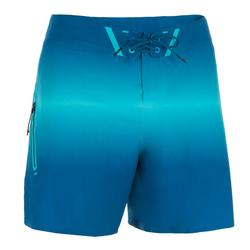 Bañador Surf boardshort corto Olaian 900 deep hombre azul turquesa