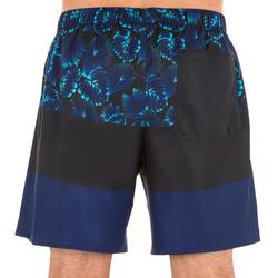 """Bañador Corto Surf Olaian 100 Block Hombre Azul Negro 16"""""""