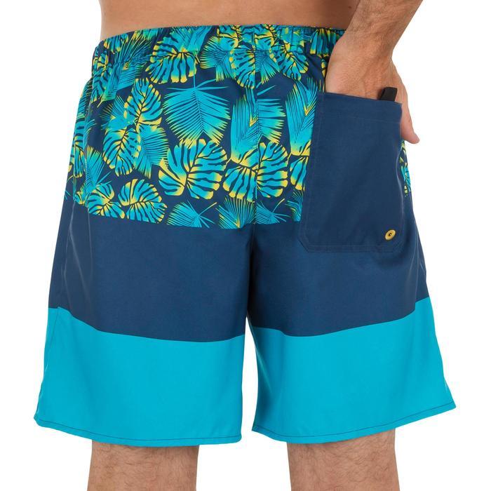 100 short surfing boardshorts Blue stripes - 1298451
