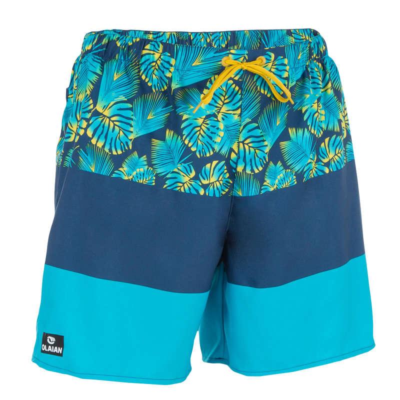 MEN'S BEGINNER BOARDSHORTS Swimwear and Beachwear - BBS 100 Block grey OLAIAN - Swimwear and Beachwear