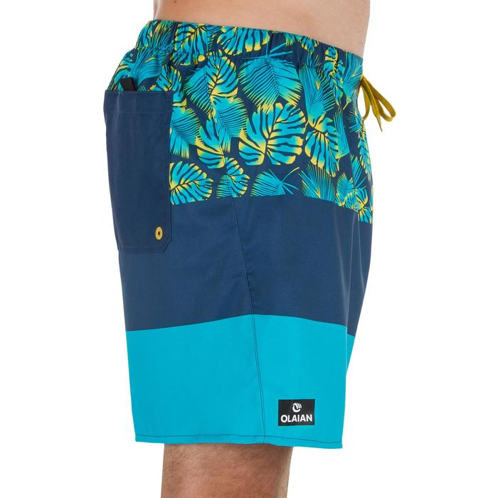 Surf boardshort court 100 Square Blue - 1298454