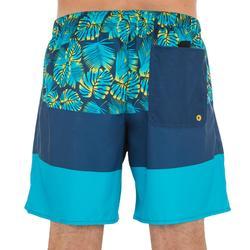 衝浪短褲100-色塊藍