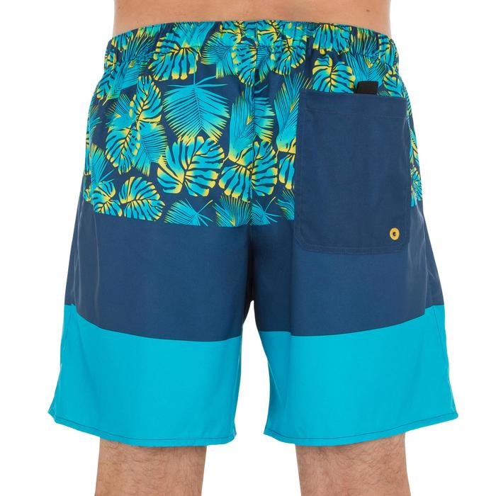 Kurze Boardshorts Surfen 100 Block türkis/blau
