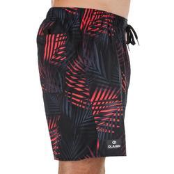 Kurze Boardshorts Surfen 100 Palm Herren schwarz/rot