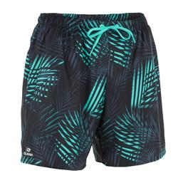 Surf zwemshort kort model 100 Square Blue