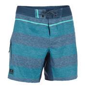 Bermuda de surf - Boardshort corto 500 Lines azul