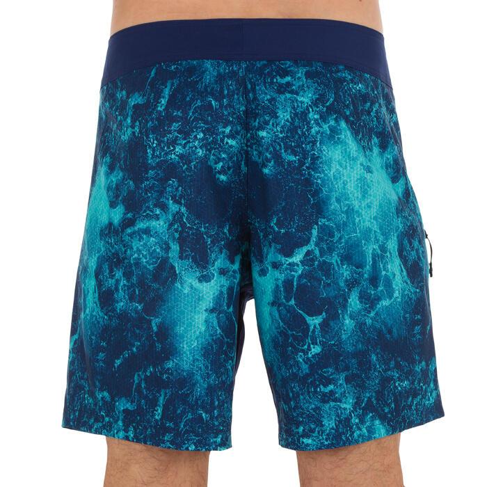 Kurze Boardshorts Surfen 500 Foam Herren blau