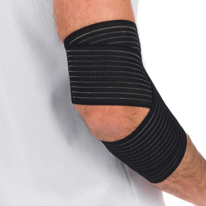 Herbruikbare elastische tape 8 cm x 1,2 m zwart