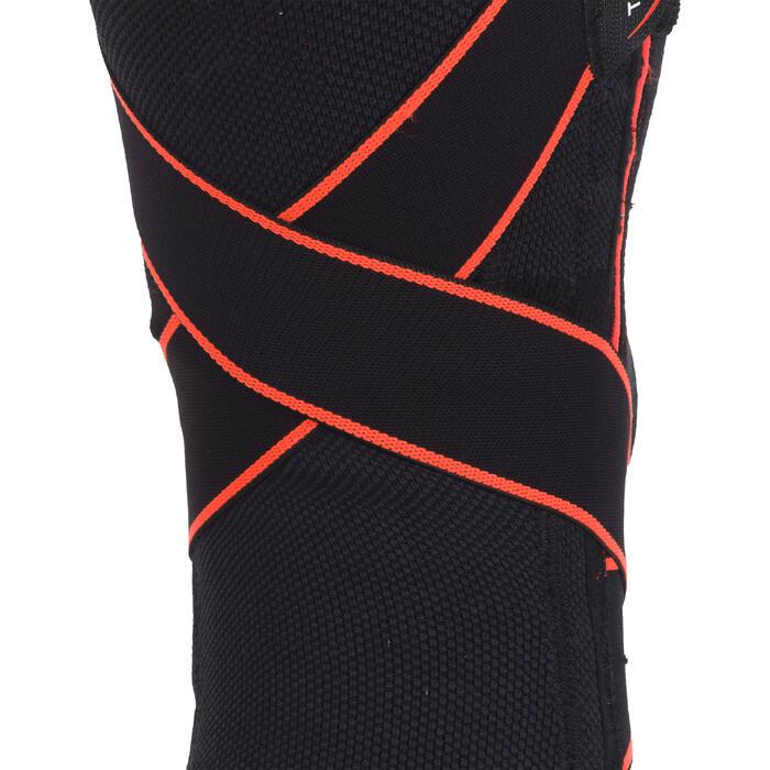 Kniebandage Mid 500 links/rechts Bänderstützung Erwachsene schwarz