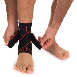 Linker/rechter enkelbrace ondersteuning ligamenten heren/dames Mid 500 zwart