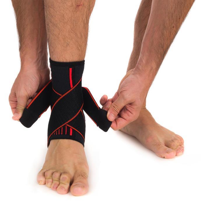 Tobillera izquierda/derecha de sujeción de ligamentos hombre/mujer MID 500 negro