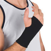 Soft 100 Men's/Women's Left/Right Compression Wrist Support - Black