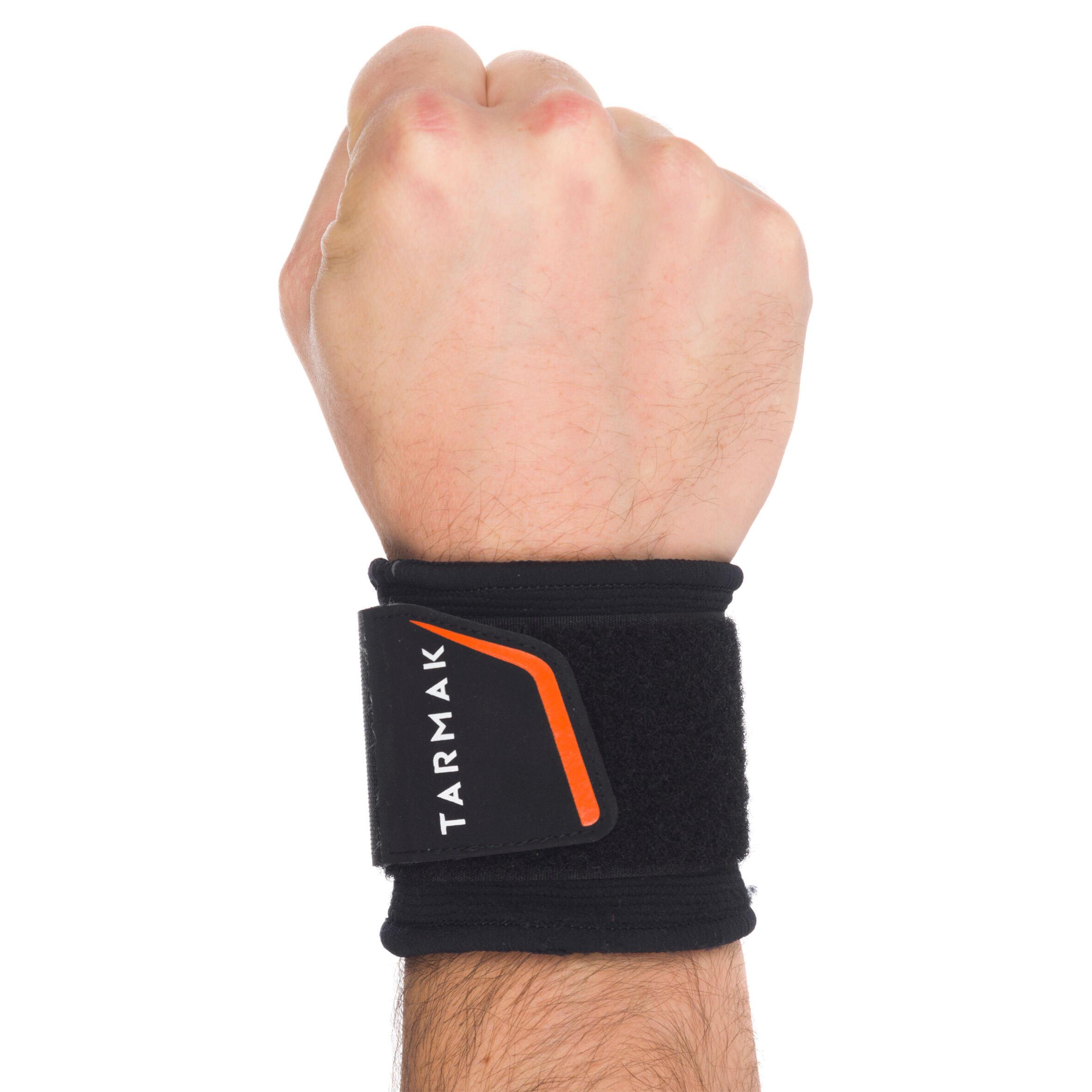 Bande de maintien pour poignet adulte MI-HAUTE 300 noir