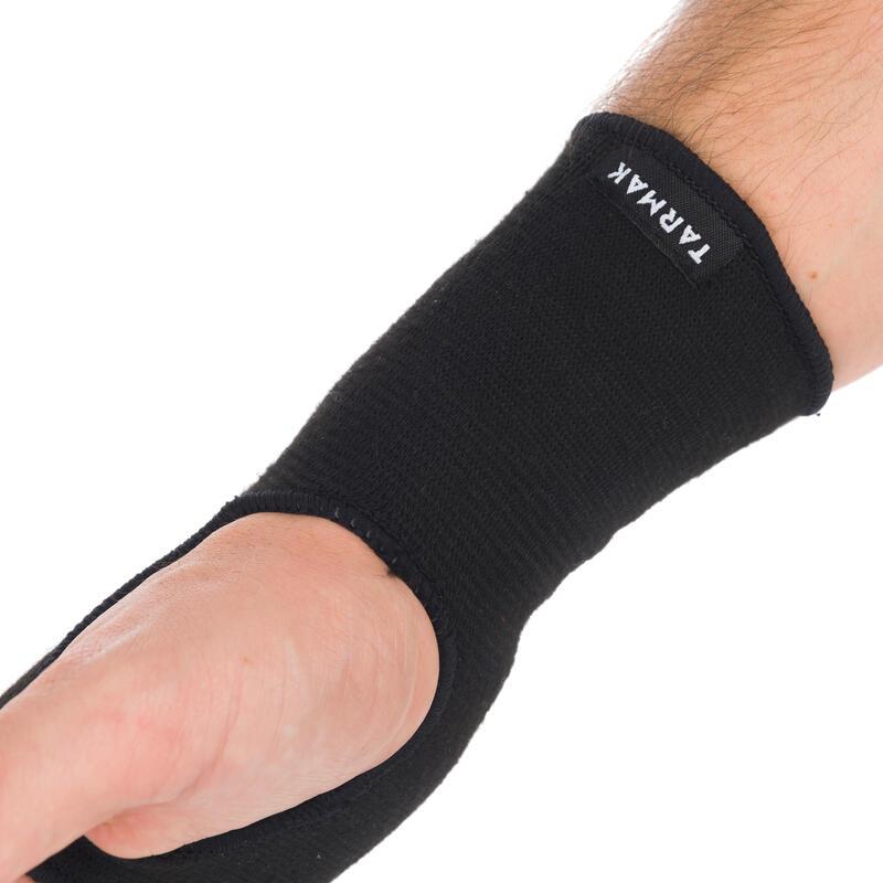 ผ้ารัดข้อมือข้างขวา/ซ้ายสำหรับผู้ชาย/ผู้หญิงรุ่น Soft 100 (สีดำ)