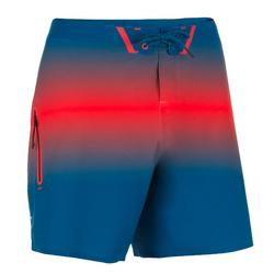 Bañador Surf boardshort corto Olaian 900 deep hombre marino rojo