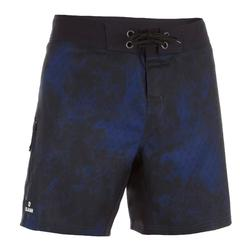 Korte surf- en boardshort 500 Uni Full Black