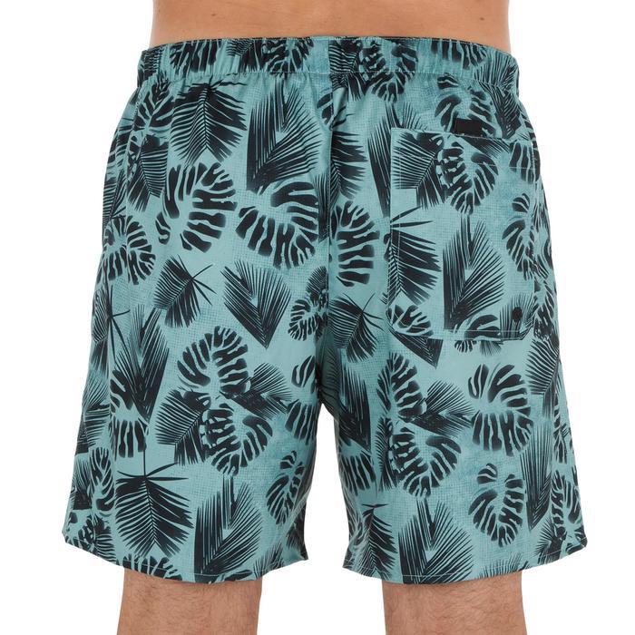 Kurze Boardshorts Surfen 100 Flower Herren kaki
