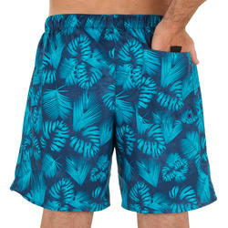 100 Short Surfing Boardshorts Flower Grey