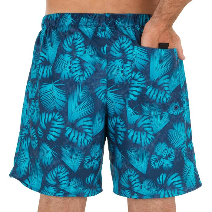 Surf boardshort corto 100 Flower gris