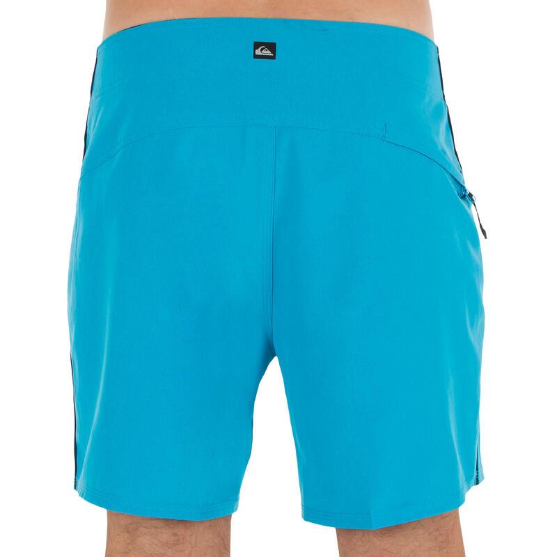 Bañador Quiksilver Surf Hombre Stretch Liso Cordón Azul 16'
