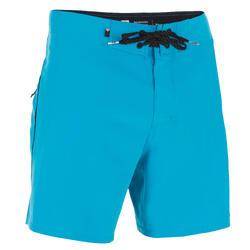 Costume mare uomo stretch azzurro corto