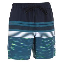 Heren boardshort Mix N'Stripes blauw