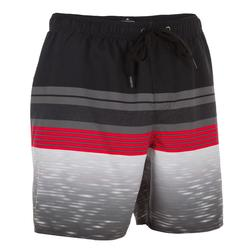 Heren boardshort Mix N'Stripes zwart