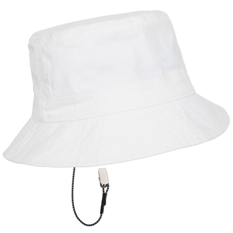 Adult Sailing Cotton Sun Hat - White
