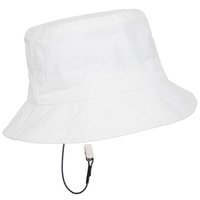 Katoenen hoedje Cruise voor volwassenen, zeilen, wit