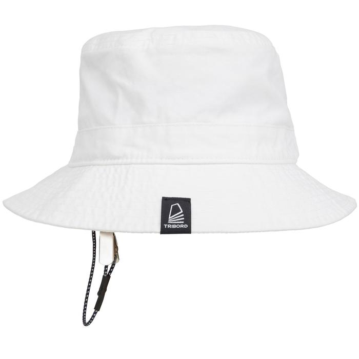 Adult Sailing Cotton Sun Hat - White
