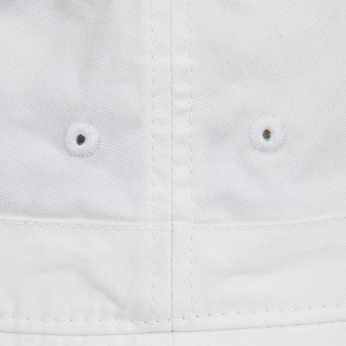 成人款航海棉質遮陽帽-白色